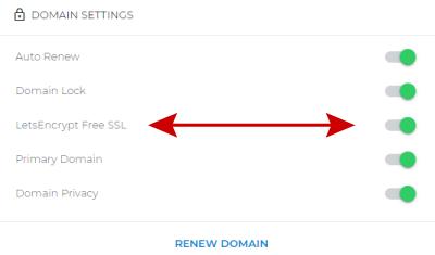 Free SSL toggle