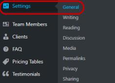 DB settings