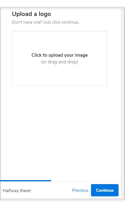 Upload your site logo