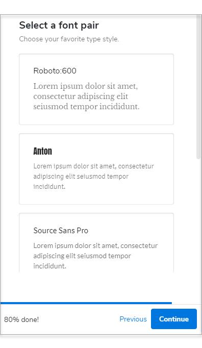 Select a Font Pair