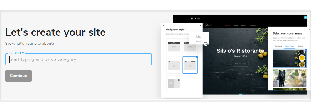 Type your site category