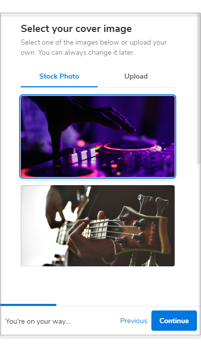 select your cover image