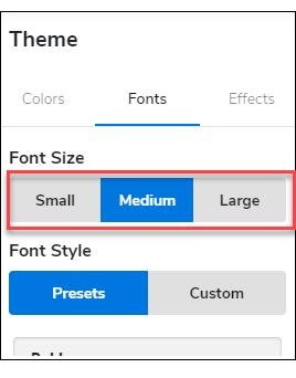 Theme Font Size