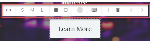 Button Editor bar