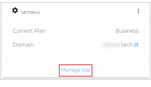 Manage Site