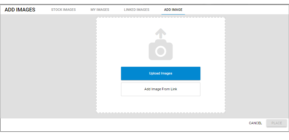 Upload image or Add Image from Link