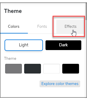 Theme Effects Tab