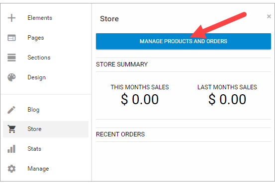 Manage Products and Orders