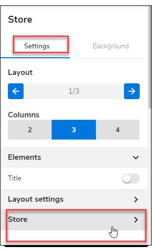 Click Store settings