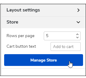 Click the Manage Store button