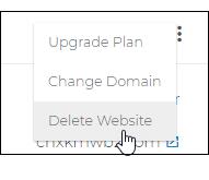 Select Delete Website