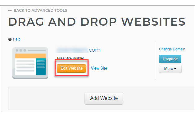 Weebly Edit site