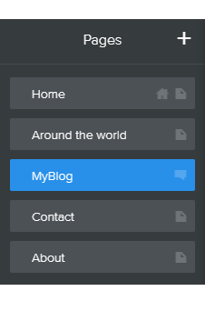 Select your blog page