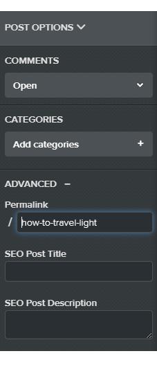Change post option