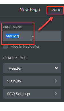 Name of your blog