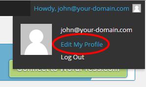 Edit your WordPress profile