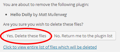 Click Yes, delete these Files
