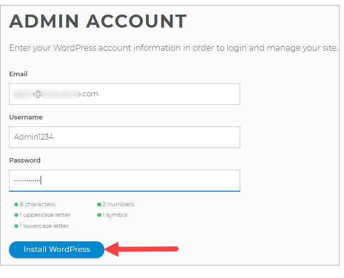 Admin Account